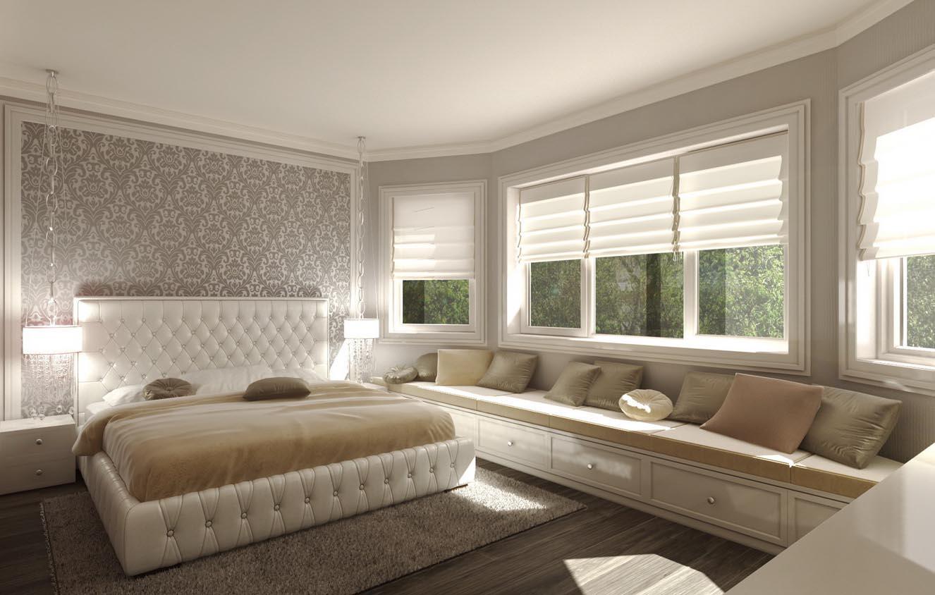 Оформление спальни для отдыха женщины